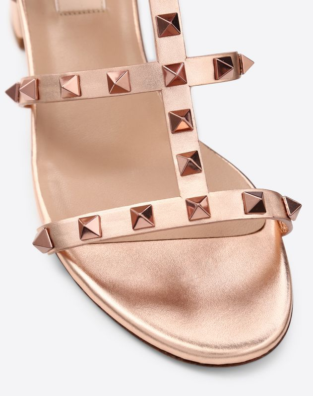 Metallic Cage Rockstud Sandal 60mm