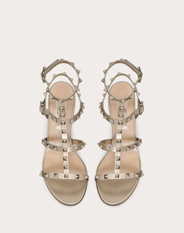 Rockstud Metallic Ankle Strap Sandal 60 mm