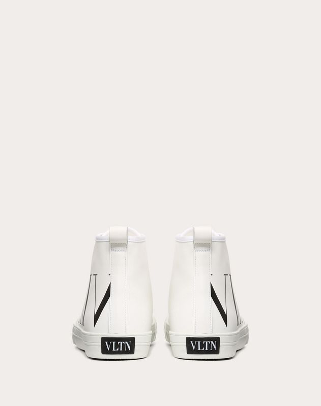 HIGH-TOP CANVAS TRAINER WITH VLTN LOGO