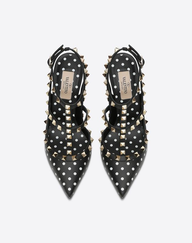 Polka Dot Cage Rockstud Pump 100mm