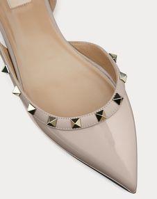 Rockstud Patent Leather Slingback Ballet Flat