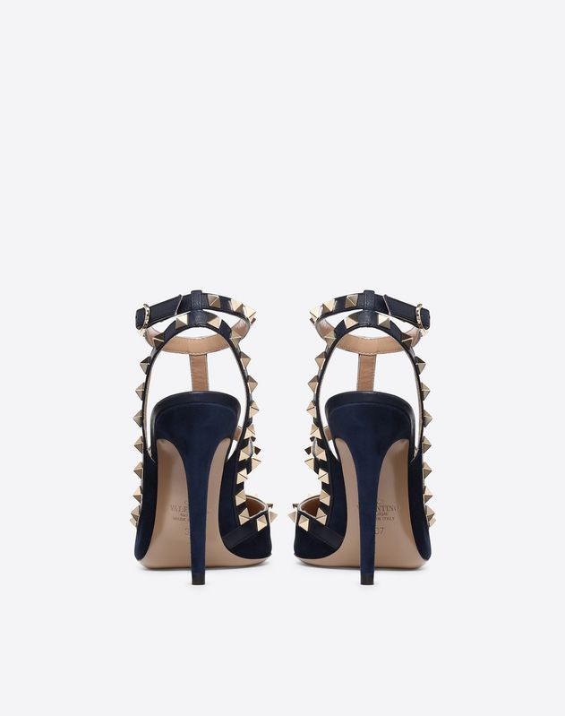 Suede Rockstud caged Pump 100mm