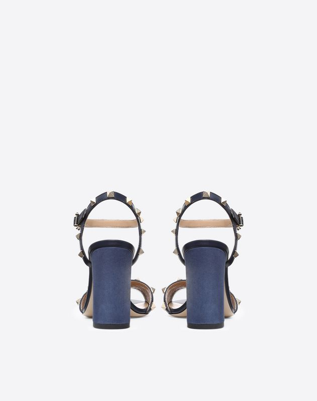 Suede Rockstud Sandal 90mm