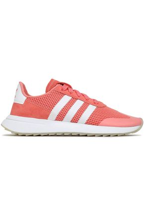 ADIDAS ORIGINALS Suede-trimmed mesh sneakers