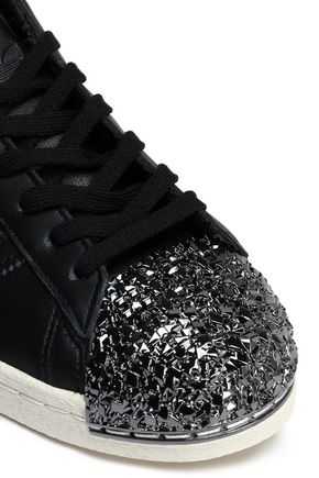 super popular 9a88e dfd40 Superstar 80s 3D embellished perforated leather sneakers ...