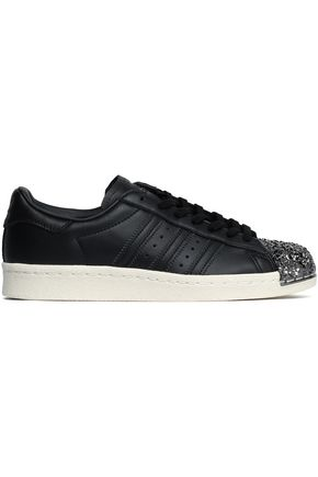 ADIDAS ORIGINALS Superstar 80s 3D embellished perforated leather sneakers
