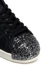 ADIDAS ORIGINALS Embellished perforated leather sneakers
