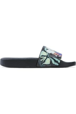 VALENTINO Embossed printed rubber slides