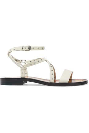 VALENTINO GARAVANI Eyelet-embellished leather sandals