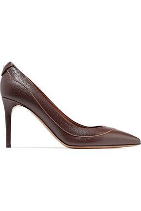 VALENTINO Pebbled-leather pumps
