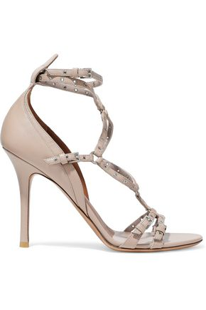 VALENTINO Eyelet-embellished leather sandals