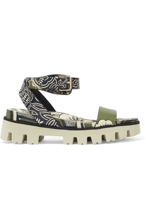 VALENTINO GARAVANI Printed leather sandals