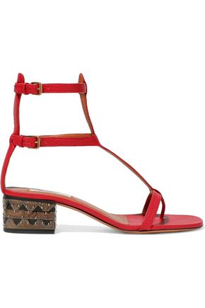 VALENTINO Embellished leathe sandals
