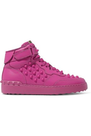 VALENTINO GARAVANI Rockstud leather high-top sneakers