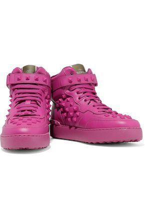 VALENTINO GARAVANI Rockstud leather high-top sneakers