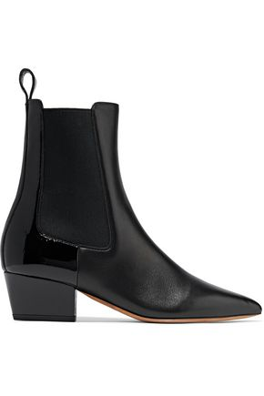 134d363b9bb Rouge-ish matte and patent-leather ankle boots | VALENTINO GARAVANI ...
