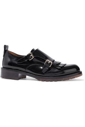 VALENTINO GARAVANI Buckled fringed patent-leather brogues