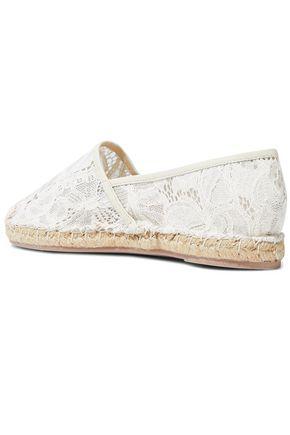 VALENTINO GARAVANI Leather-trimmed corded lace espadrilles