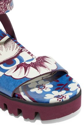VALENTINO Printed leather sandals