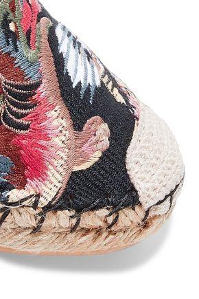 VALENTINO GARAVANI Embroidered woven espadrilles