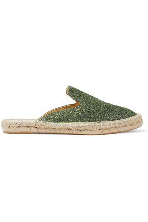 MANEBÍ Glittered leather espadrille slippers