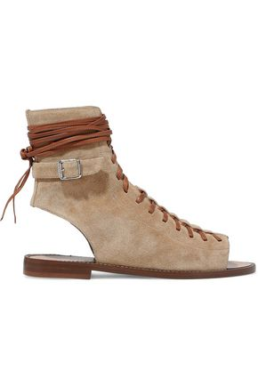 BELSTAFF Lace-up suede sandals