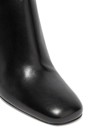 VALENTINO Sculpture leather ankle boots