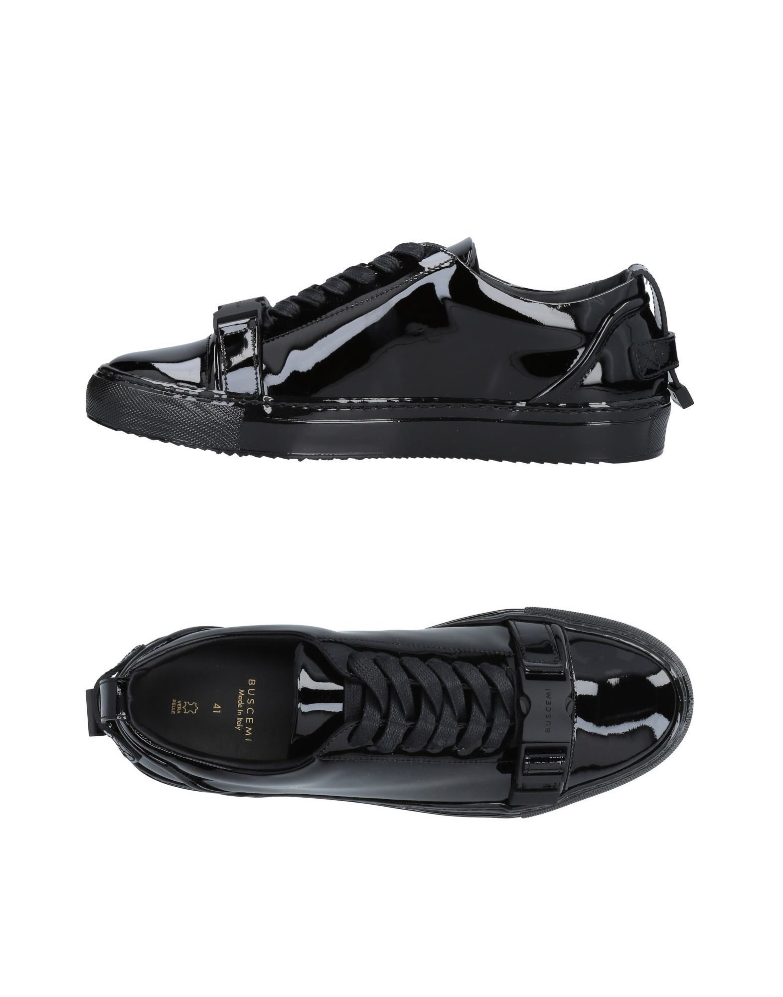 《送料無料》BUSCEMI メンズ スニーカー&テニスシューズ(ローカット) ブラック 38 革