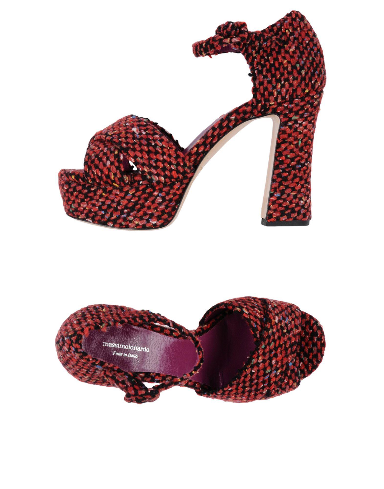 MASSIMO LONARDO Sandals in Garnet