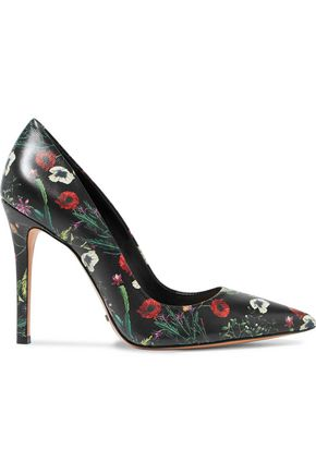 SCHUTZ Gilberta floral-print leather pumps
