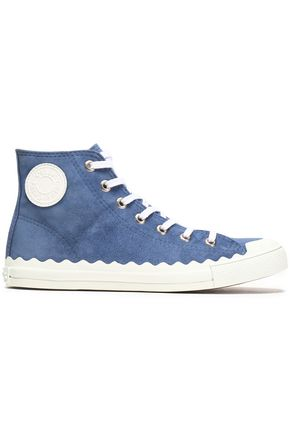 CHLOÉ Suede high-top sneakers