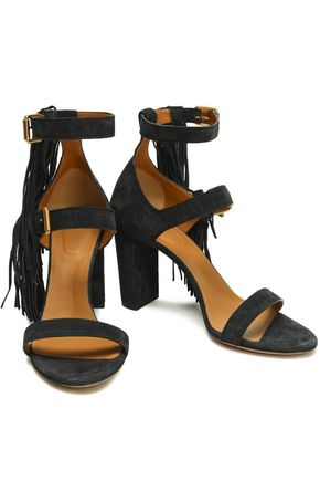 CHLOÉ Maya fringed suede sandals