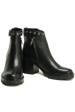SIGERSON MORRISON Buckle-embellished leather ankle boots