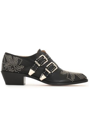CHLOÉ Susanna studded leather brogues