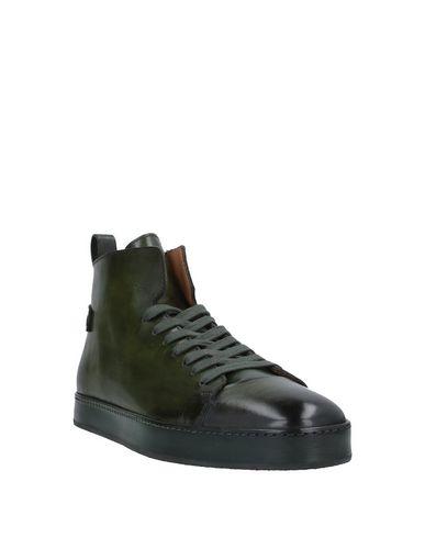 Фото 2 - Высокие кеды и кроссовки темно-зеленого цвета