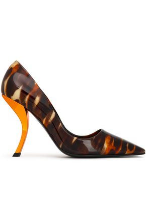ROGER VIVIER Printed patent-leather pumps