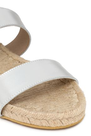 IRIS & INK Jonah metallic leather espadrille sandals