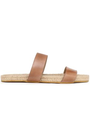 IRIS & INK Jonah leather espadrille slides