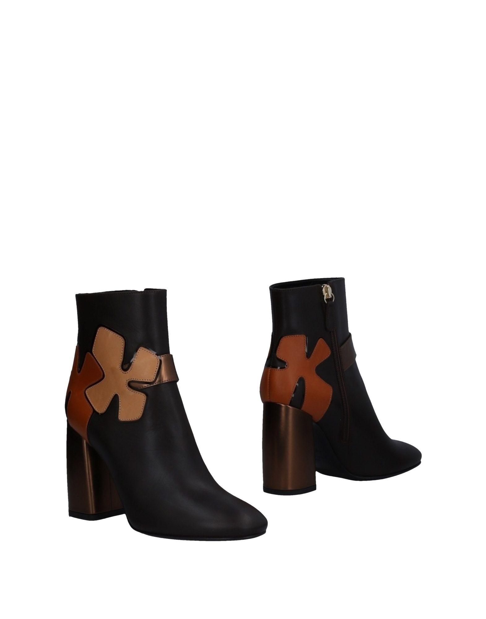 LELLA BALDI Ankle Boot in Dark Brown