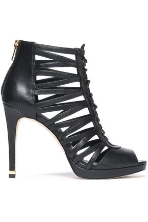 MICHAEL MICHAEL KORS Cutout leather ankle boots
