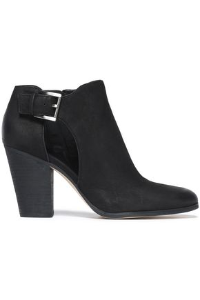 MICHAEL MICHAEL KORS Cutout brushed-leather ankle boots