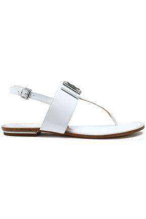 MICHAEL MICHAEL KORS Crystal-embellished patent-leather sandals