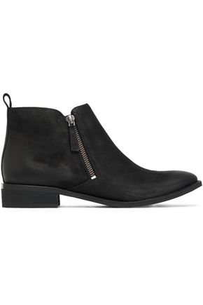 MICHAEL MICHAEL KORS Brushed-leather ankle boots