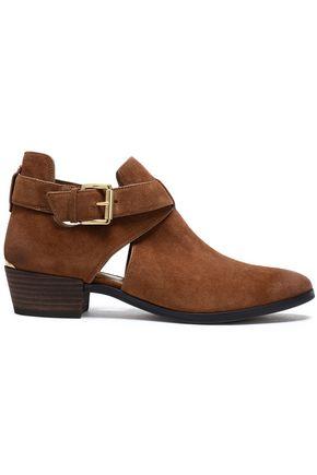 MICHAEL MICHAEL KORS Cutout suede ankle boots