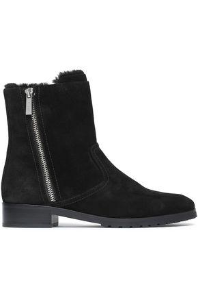MICHAEL MICHAEL KORS Faux fur-lined suede ankle boots