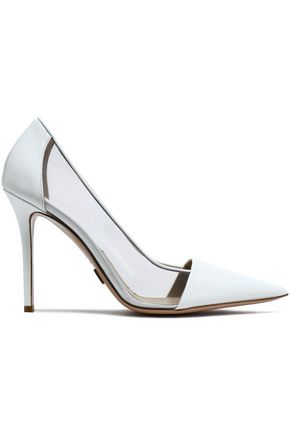 MICHAEL KORS COLLECTION Jeanette patent-leather and vinyl pumps