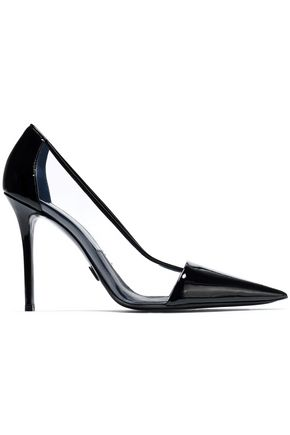 MICHAEL KORS COLLECTION PVC-paneled patent-leather pumps
