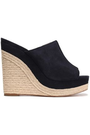 MICHAEL KORS COLLECTION Suede wedge espadrille sandals