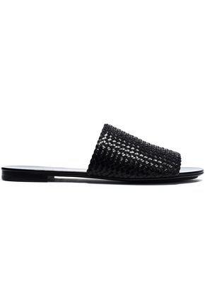 MICHAEL KORS COLLECTION Woven leather slides