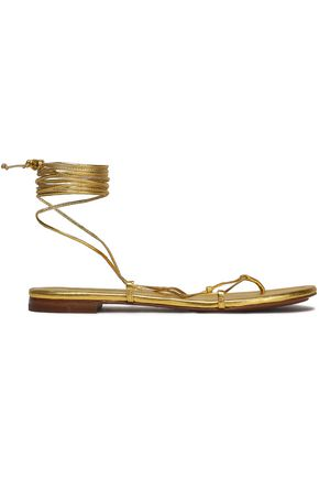 MICHAEL KORS COLLECTION Bradshaw metallic leather sandals